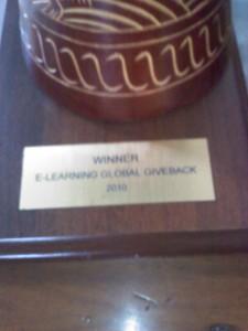 Winner Elearning Guild/Lingos Global Giveback